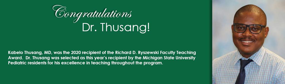 Congratulations Dr. Thusang!